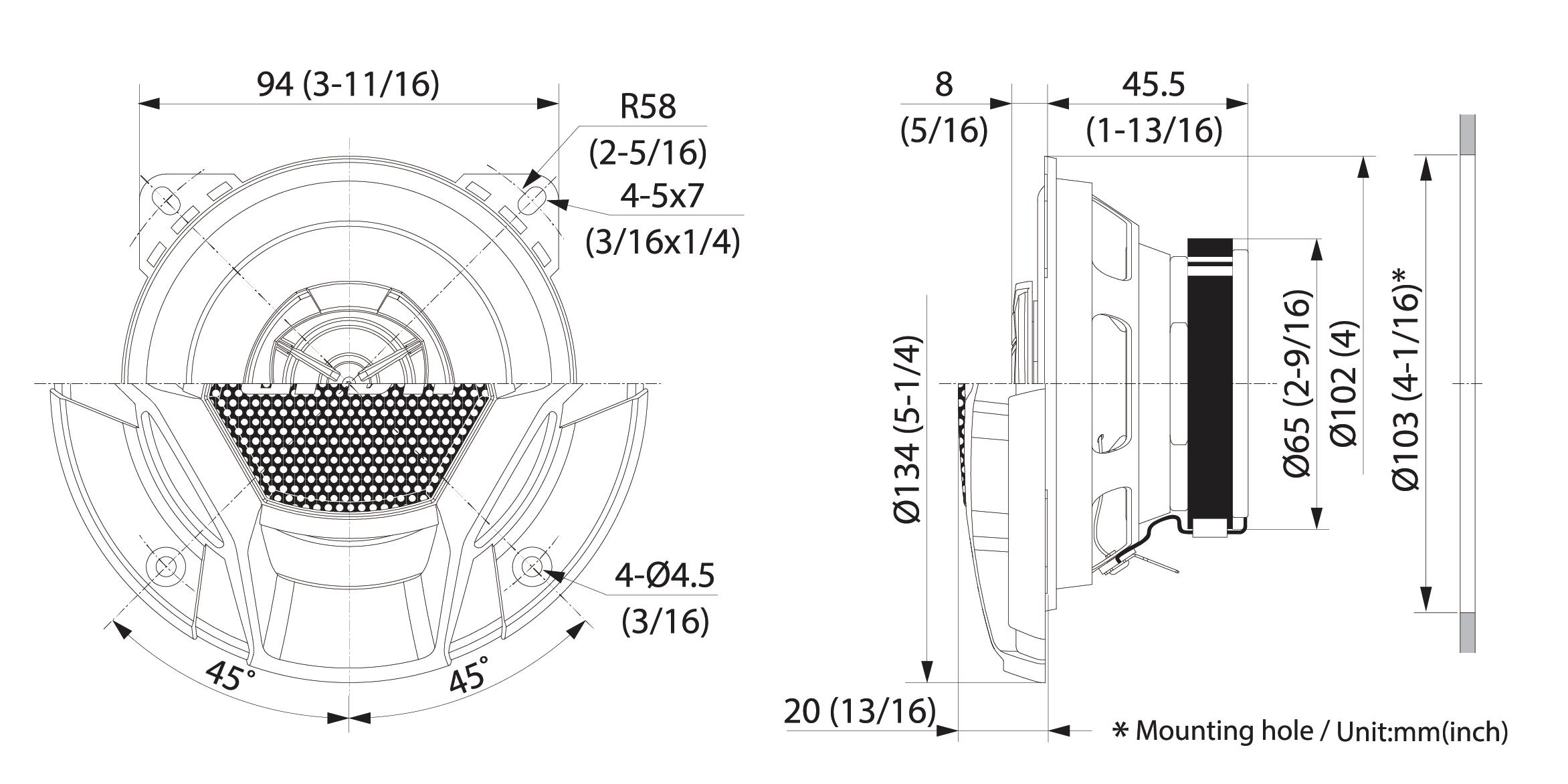 "JVC CS-DR420 4""Car Speaker -"